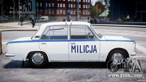 Fiat 125p Polski Milicja for GTA 4 inner view