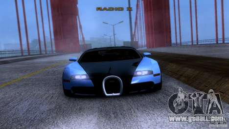 Bugatti Veyron 16.4 for GTA San Andreas back view