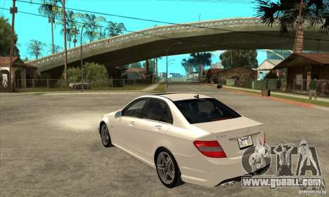 Mercedes-Benz C63 AMG 2010 for GTA San Andreas bottom view