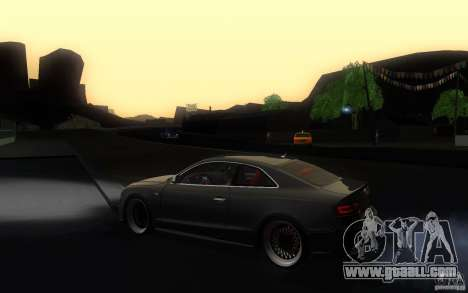 Audi S5 Black Edition for GTA San Andreas left view