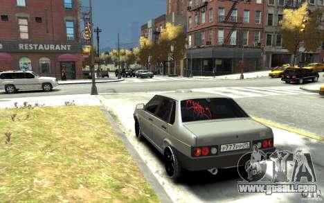 VAZ 21099 for GTA 4 back left view
