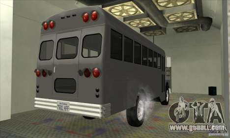 Civil Bus for GTA San Andreas back left view