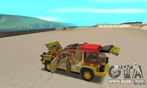 Ford Explorer (Jurassic Park) for GTA San Andreas upper view