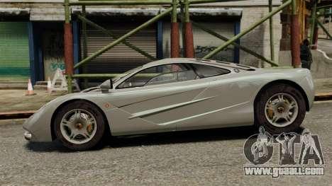 McLaren F1 1995 for GTA 4 left view