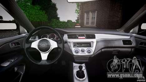 Mitsubishi Lancer Evolution VIII v1.0 for GTA 4 bottom view