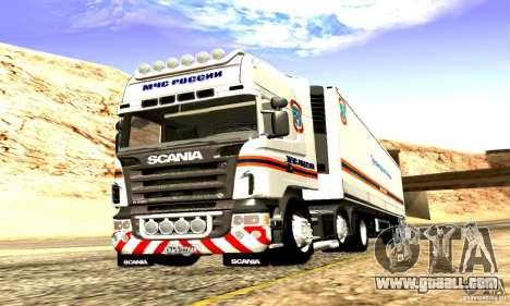 Scania R620 Emercom Of Russia for GTA San Andreas inner view