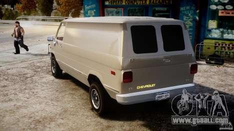 Chevrolet G20 Vans V1.1 for GTA 4 back left view