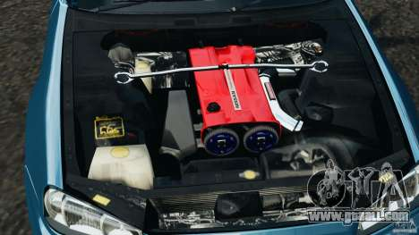Nissan Skyline GT-R R34 2002 v1.0 for GTA 4 upper view