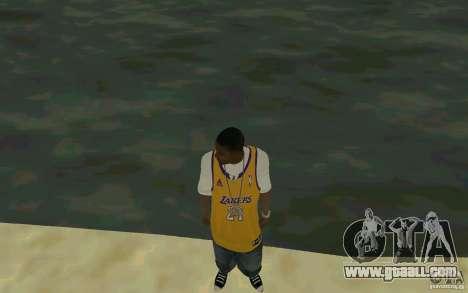 Afro-American HD skin for GTA San Andreas second screenshot