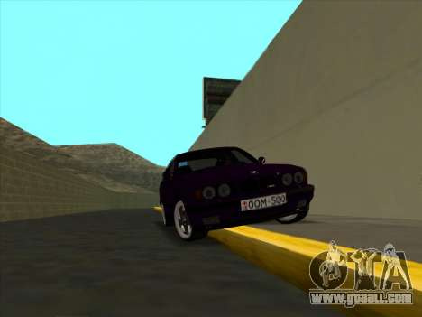 BMW M5 E34 NeedForDrive for GTA San Andreas back view
