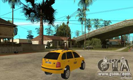 Skoda Fabia Combi Taxi for GTA San Andreas right view