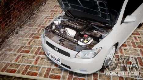 Toyota Scion tC 2.4 Stock for GTA 4 inner view