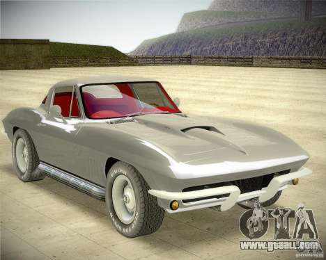 Chevrolet Corvette Stingray for GTA San Andreas back left view