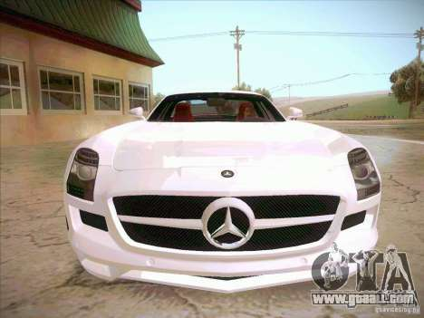 Mercedes-Benz SLS AMG 2010 Hamann Design for GTA San Andreas back view