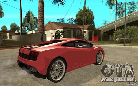 Lamborghini Gallardo LP550 Valentino Balboni for GTA San Andreas right view