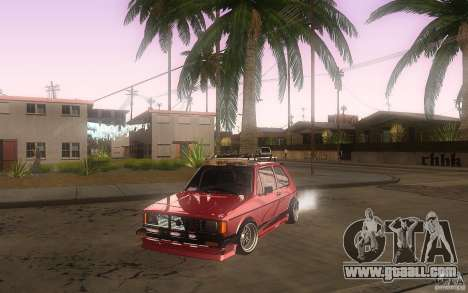 Volkswagen Golf GTI rabbit euro style for GTA San Andreas upper view