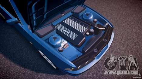 BMW 530I E39 e63 white wheels for GTA 4 bottom view