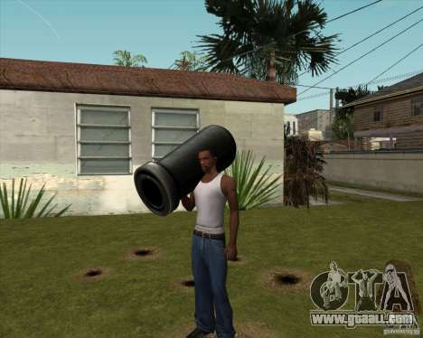 Cannon from Serious Sam for GTA San Andreas