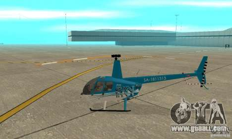 Robinson R44 Raven II NC 1.0 TV for GTA San Andreas back left view