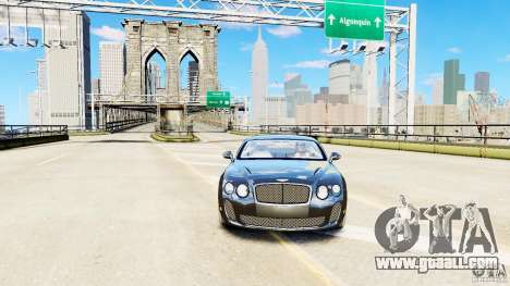 Bentley Continental SuperSports v2.5 for GTA 4 right view