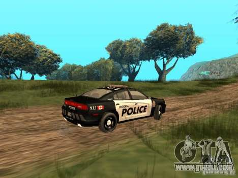 Dodge Charger Canadian Victoria Police 2011 for GTA San Andreas back view