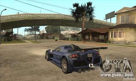 Gumpert Apollo Sport for GTA San Andreas back left view