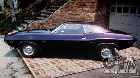 Dodge Challenger 1971 RT for GTA 4 left view