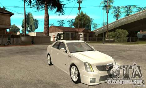 Cadillac CTS-V 2009 v2.0 for GTA San Andreas back view