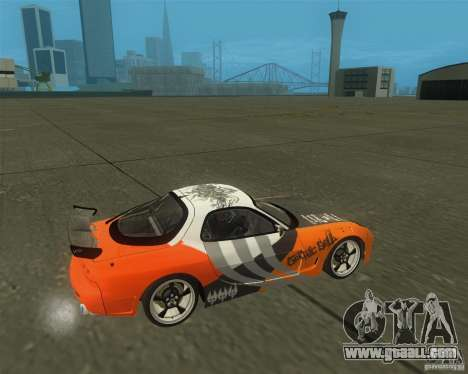 Mazda RX-7 weapon war for GTA San Andreas right view