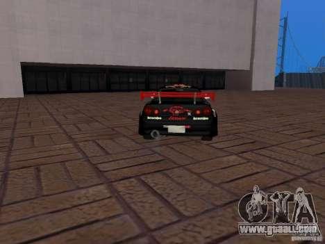 Nissan Skyline GT-R R34 Tunable for GTA San Andreas inner view
