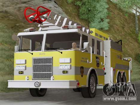 Pierce Arrow XT BCFD Tower Ladder 4 for GTA San Andreas left view