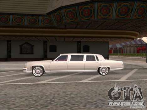 Cadillac Fleetwood Limousine 1985 for GTA San Andreas left view