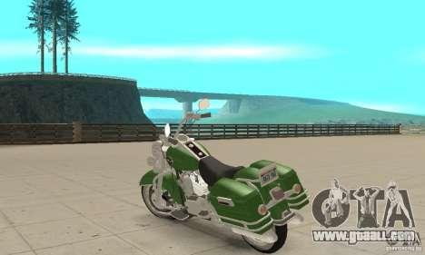 Harley Davidson Road King for GTA San Andreas back left view