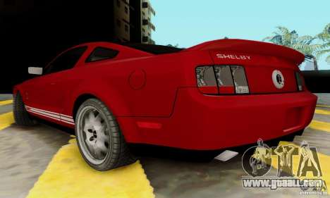 Ford Shelby GT500 for GTA San Andreas back left view