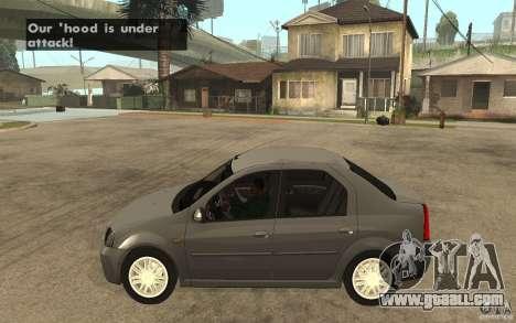 Dacia Logan Prestige 1.6 16v for GTA San Andreas left view