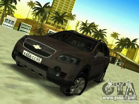 Chevrolet Captiva for GTA San Andreas back view