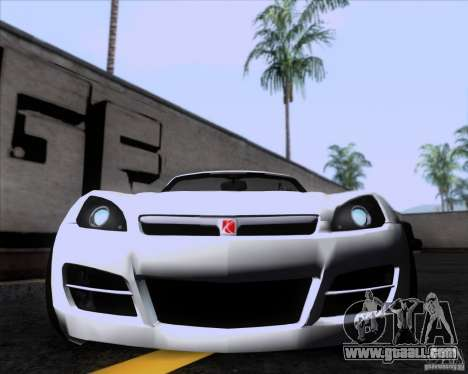 Saturn Sky Roadster for GTA San Andreas left view