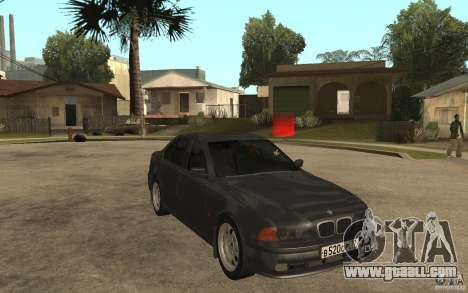 BMW 523i E39 1997 for GTA San Andreas back view