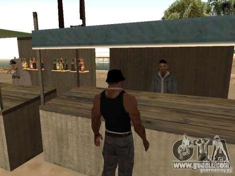 Market on the beach for GTA San Andreas third screenshot
