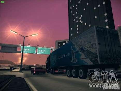 Trailer for Scania R620 Dubai Trans for GTA San Andreas side view