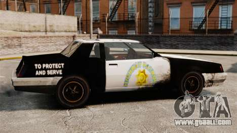 Police coloring for a rusty Sabre for GTA 4 left view