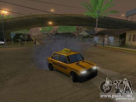 VAZ 2106 tuning Taxi for GTA San Andreas back view