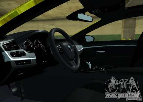 BMW M5 F10 Gold for GTA San Andreas inner view