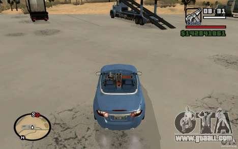 Jaguar XK Convertable for GTA San Andreas back left view