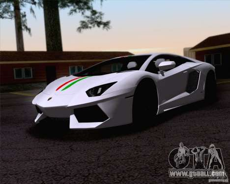 Lamborghini Aventador LP700-4 2011 for GTA San Andreas upper view