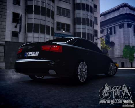 Audi A6 2012 for GTA 4 right view