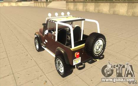 Jeep Wrangler 1986(2) for GTA San Andreas right view
