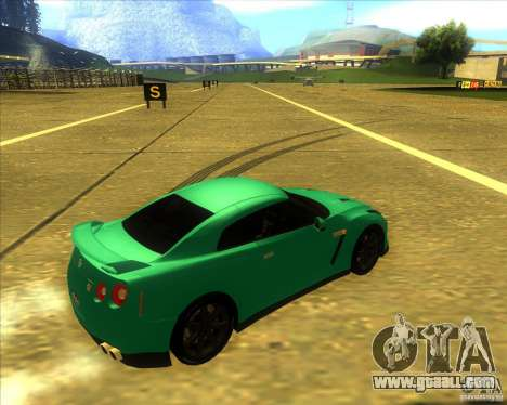 Nissan GT-R for GTA San Andreas back left view