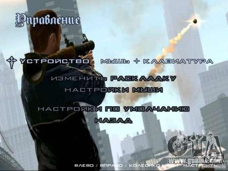 Menu like in GTA IV for GTA San Andreas fifth screenshot