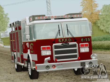 Pierce Pumpers. San Francisco Fire Departament for GTA San Andreas